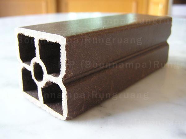 ไม้พลัสแผ่นกลวง1.5×1.5 เมตร